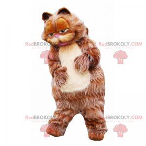 Maskot kočka s dlouhými a rudými vlasy - Redbrokoly.com
