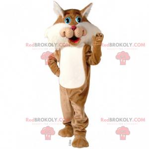 Katzenmaskottchen mit blauen Augen - Redbrokoly.com