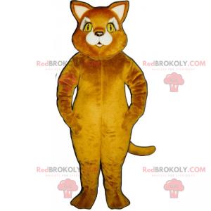 Cat mascot with yellow eyes - Redbrokoly.com