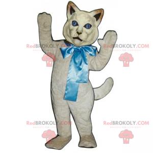 Maskot kočka s velkou mašlí - Redbrokoly.com
