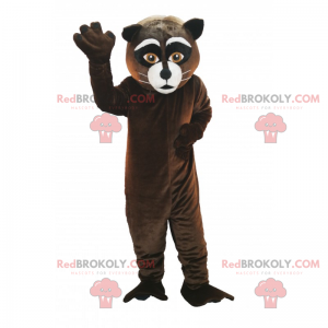 Cat mascot with white whiskers - Redbrokoly.com