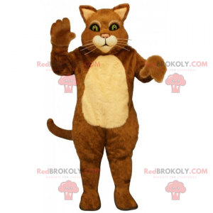 Two-tone cat mascot with long whiskers - Redbrokoly.com