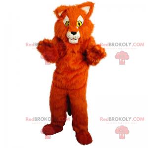 Maskot červená kočka - Redbrokoly.com