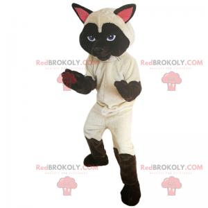 Siamese cat mascot with blue eyes - Redbrokoly.com