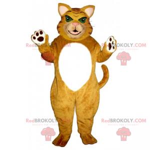 Tiger Katzenmaskottchen mit grünen Augen - Redbrokoly.com