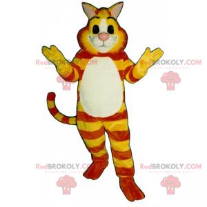 Yellow and orange tiger cat mascot - Redbrokoly.com