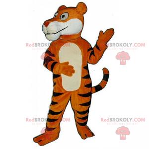 Oranžový a černý tygr kočka maskot - Redbrokoly.com