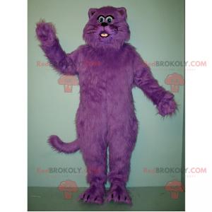 Maskot fialová kočka - Redbrokoly.com