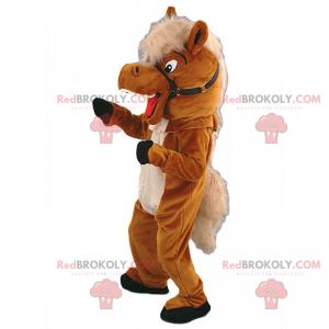Horse mascot with soft coat - Redbrokoly.com
