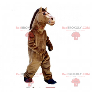 Horse mascot with black crest - Redbrokoly.com