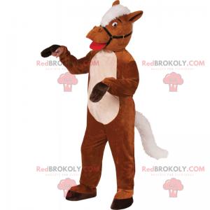 Maskot koně s postrojem a hřebenem - Redbrokoly.com