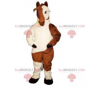 Two-tone horse mascot - Redbrokoly.com