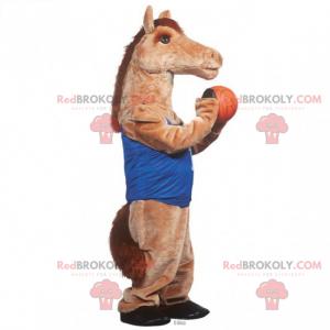 Horse mascot in basketball outfit - Redbrokoly.com
