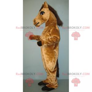 Jasnobrązowa maskotka konia - Redbrokoly.com