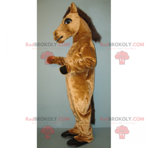 Light brown horse mascot - Redbrokoly.com