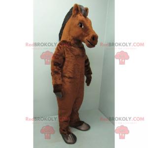 Brown and black horse mascot - Redbrokoly.com