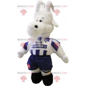 Mascota de cabra en traje de fútbol - Redbrokoly.com