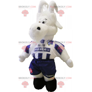 Mascotte di capra in costume da calcio - Redbrokoly.com