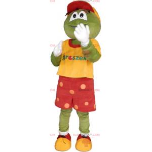Mascote cervo em roupa de jogador de futebol - Redbrokoly.com