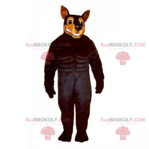 Hundemaskottchen - Dobermann - Redbrokoly.com