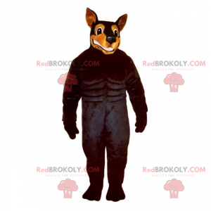 Maskot psa - doberman - Redbrokoly.com