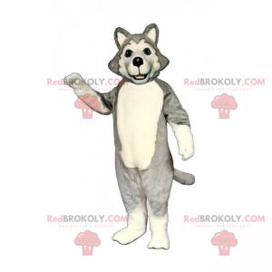 Maskot psa - šedý husky - Redbrokoly.com