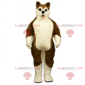 Maskot psa - hnědý husky - Redbrokoly.com