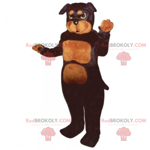 Dog mascot - Pitbull - Redbrokoly.com