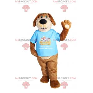 Maskot psa s dlouhými ušima v tričku - Redbrokoly.com