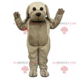 Dog mascot with long gray ears - Redbrokoly.com
