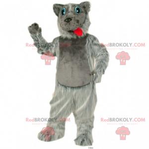 Blue eyed dog mascot - Redbrokoly.com