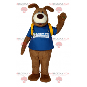 Dog mascot with doctor accessories - Redbrokoly.com