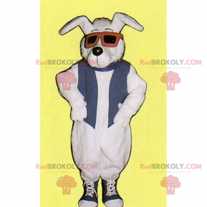 Dog mascot with sneakers and glasses - Redbrokoly.com
