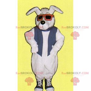 Psí maskot s tenisky a brýle - Redbrokoly.com