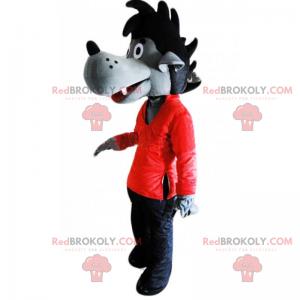 Maskot psa s černým hřebenem - Redbrokoly.com