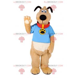Maskot psa s tričkem a medailí - Redbrokoly.com