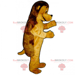 Two-tone dog mascot - Redbrokoly.com