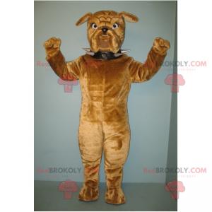 Hnědý psí maskot s rýčovým límcem - Redbrokoly.com