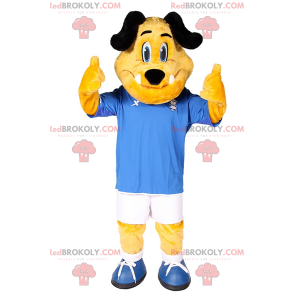 Hundemaskottchen in Fußballausrüstung - Redbrokoly.com