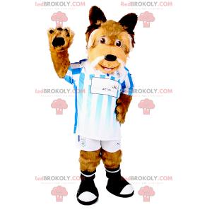 Dog mascot in soccer gear - Redbrokoly.com