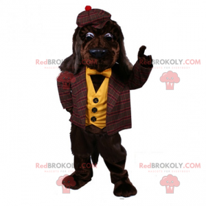 Dog mascot in typical English outfit - Redbrokoly.com