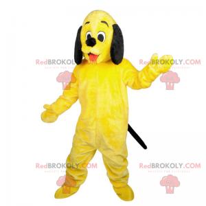Žlutý a černý pes maskot - Redbrokoly.com