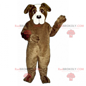 Brown and white dog mascot - Redbrokoly.com