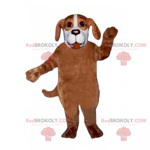 Hnědý a černý pes maskot - Redbrokoly.com