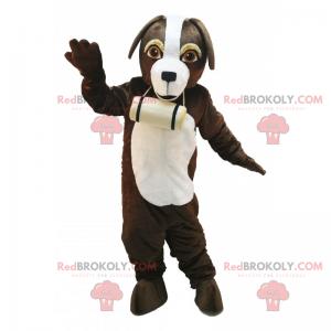St Bernard hundemaskott med sitt lille fat - Redbrokoly.com