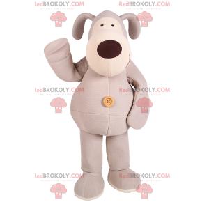 Gray dog mascot blanket - Redbrokoly.com