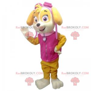 Maskot štěně s pilotními brýlemi - Redbrokoly.com