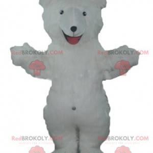 Alles haarige weiße Teddybär Maskottchen - Redbrokoly.com