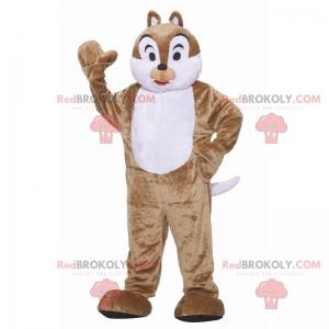 Hnědý a bílý maskot chipmunks - Redbrokoly.com