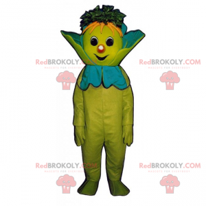 Cabbage mascot with a smiling face - Redbrokoly.com